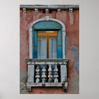 Poster Fenêtre à Venise