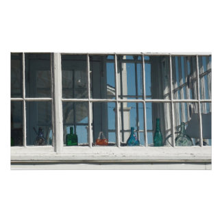 Poster Fenêtre chic de bord de la mer de Boho de beau