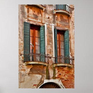 Poster Fenêtre dans le bâtiment de Venise