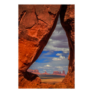 Poster Fenêtre de roche à la vallée de monument, AZ