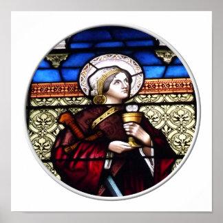 Poster Fenêtre en verre teinté de Barbara de saint