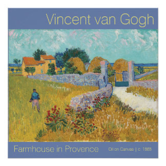 Poster Ferme reconstituée de Van Gogh en beaux-arts de la