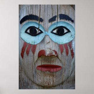 Poster Fermez-vous d'un totem découpé