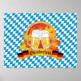 Poster Festival allemand de bière d'Oktoberfest