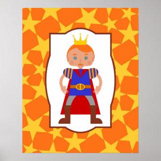 Poster Fête d'anniversaire de garçon de prince charme