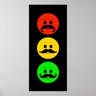 Poster Feu d'arrêt déprimé avec des moustaches