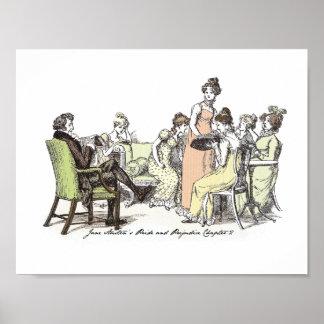 Poster Fierté et préjudice - famille de Bennet
