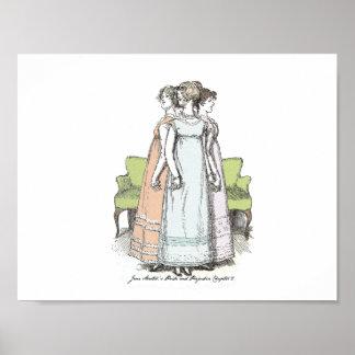 Poster Fierté et Préjudice-Lydia la soeur de Bennet grand