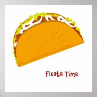 Poster Fiesta délicieuse de taco