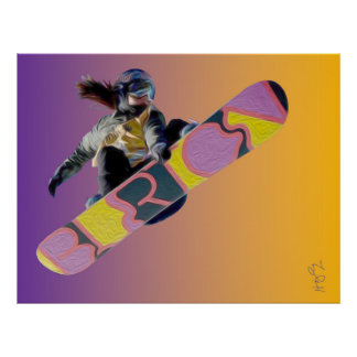 Poster Fille de surfeur