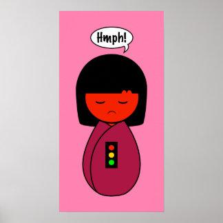 Poster Fille Hmph de Kokeshi !