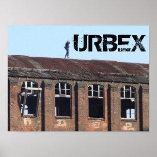 Poster Fille sur le toit 01.0.2.T, URBEX, endroits perdus