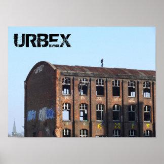 Poster Fille sur le toit 01.0.4.T, endroits perdus, URBEX
