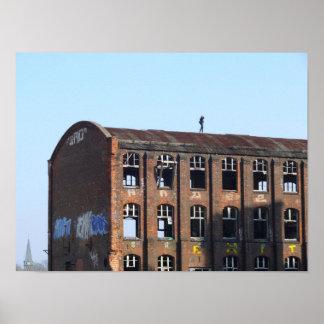 Poster Fille sur le toit 01,0, endroits perdus