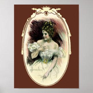 Poster Fille vintage de Christy, portrait nuptiale