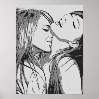 Poster Filles allées lesbiennes sauvages et sexy