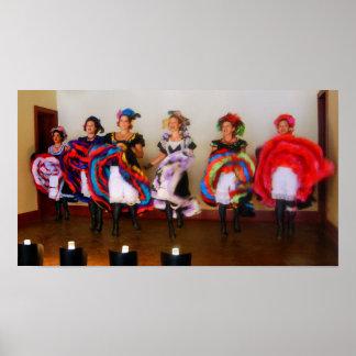 Poster Filles de salle de danse dans le vieil ouest