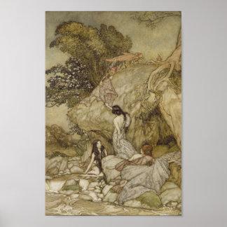 Poster Filles par un courant