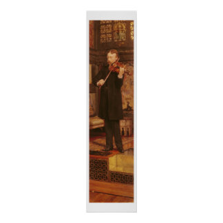 Poster Fils d'Alma-Tadema   Maurice jouant le violon