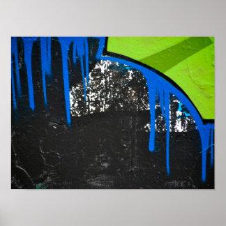 Poster Fin moderne abstraite d'art de graffiti