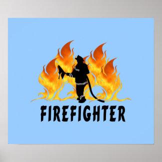 Poster Flammes de pompier