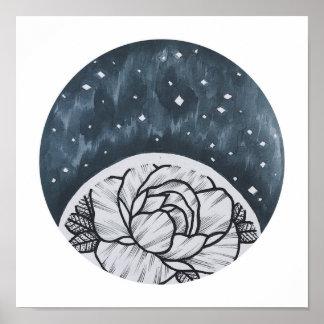 Poster Fleur de l'espace