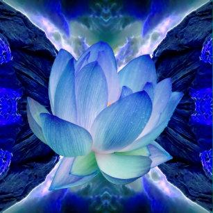 Posters Affiches Fleur Lotus Bleu Zazzle Fr