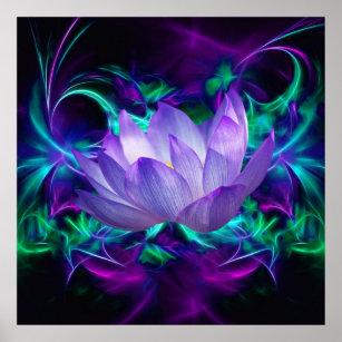 Poster Fleur de Lotus pourpre et sa signification