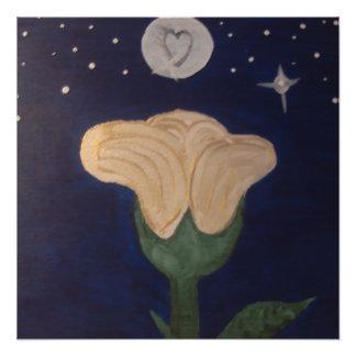 Poster Fleur de lune par Lévi