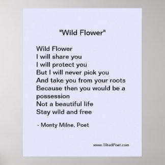 Poster Fleur sauvage - affiche de poésie