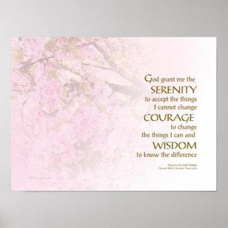 Poster Fleurs de cerisier de prière de sérénité