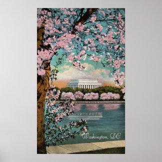 Poster Fleurs de cerisier en affiche de Washington DC