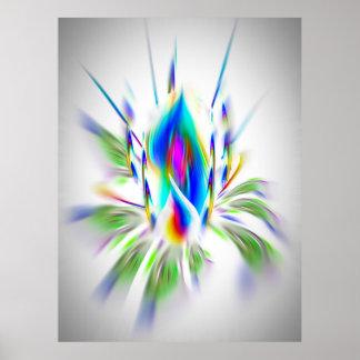 Poster Fleurs - de la magie