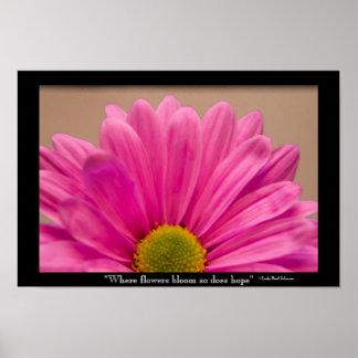 Poster Fleurs d'espoir