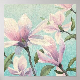 Poster Fleurs roses des sud