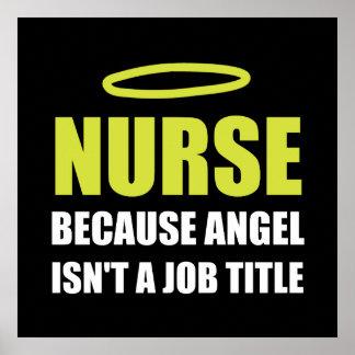 Poster Fonction d'ange d'infirmière
