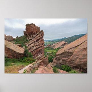 Poster Formations et chaînes de roche entourant les