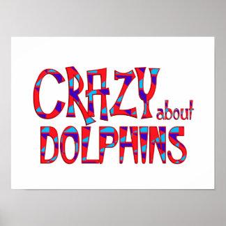 Poster Fou au sujet des dauphins