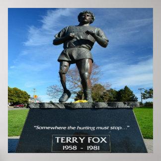 """Poster Fox 24"""" de Terry x 24"""", papier d'affiche de valeur"""