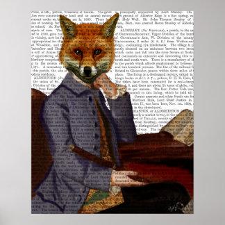 Poster Fox avec la cannelure