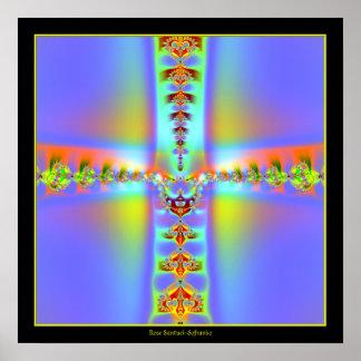 Poster Fractale croisée de résurrection