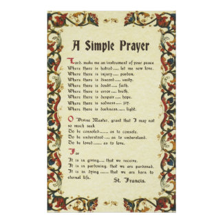 Poster francis=florentine simple de =pope de St Francis d