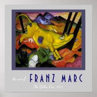 Poster Franz Marc - la vache jaune - art d'expressioniste