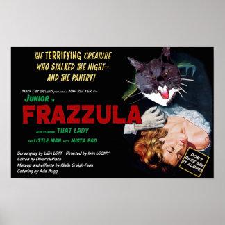 Poster Frazzula ! Une affiche de chat de monstre