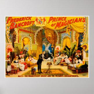 Poster Frederick Bancroft, prince d'affiche de magiciens