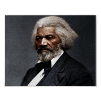 Poster Frederick Douglass Colorized