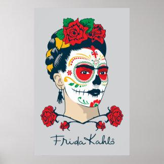 Poster Frida Kahlo | El Día de los Muertos