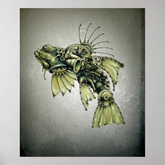 Poster Fruits de mer cinétiques