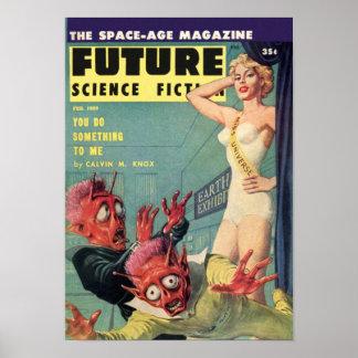 Poster Futur âge d'espace -- Mlle Universe