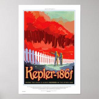 Poster Future affiche de Sci fi de voyage de la NASA -